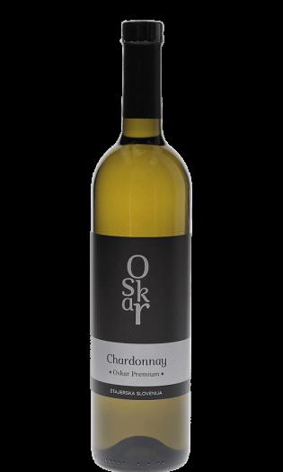Bela vina Oskar Premium Chardonnay belo vino – Štajerska Slovenija. Fontana vin Vodole – posestvo Sončni raj.