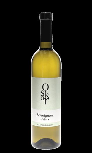 Belo vino Sauvignon Oskar, štajerska Slovenija. Vinska fontana Vodole–posestvo Sončni raj