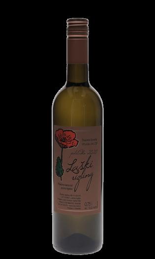 Belo vino Vlado Mak – laški rizling 2020. Vinska fontana Vodole–posestvo Sončni raj